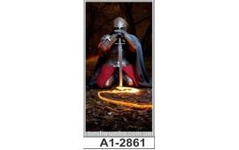 Фотопечать А1-283 для шкафа-купе на одну дверь. Рыцарь