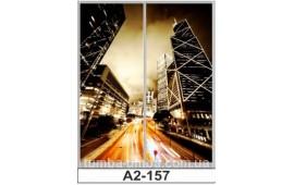Фотопечать А2-157 для шкафа-купе на две двери. Небоскрёбы