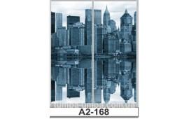 Фотопечать А2-168 для шкафа-купе на две двери. Ночной город