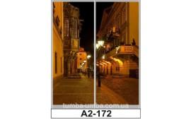 Фотопечать А2-160 для шкафа-купе на две двери. Ночной город