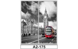 Фотопечать А2-175 для шкафа-купе на две двери. Лондон