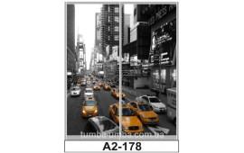 Фотопечать А2-178 для шкафа-купе на две двери. Большой город