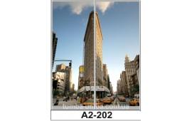 Фотопечать А2-202 для шкафа-купе на две двери. Большой город