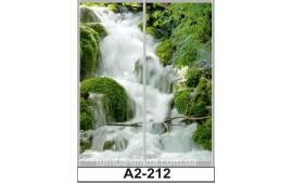 Фотопечать А2-212 для шкафа-купе на две двери. Водопад