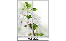 Фотопечать А2-222 для шкафа-купе на две двери. Цветы