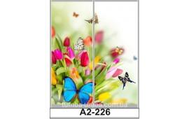 Фотопечать А2-221 для шкафа-купе на две двери. Цветы и бабочки