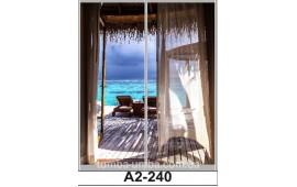 Фотопечать А2-240 для шкафа-купе на две двери. Тропический остров