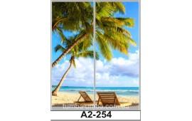 Фотопечать А2-254 для шкафа-купе на две двери. Пальмы