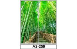 Фотопечать А2-259 для шкафа-купе на две двери. Бамбук