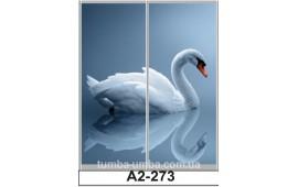 Фотопечать А2-273 для шкафа-купе на две двери. Лебедь