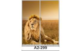 Фотопечать А2-299 для шкафа-купе на две двери. Лев