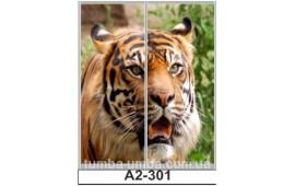 Фотопечать А2-301 для шкафа-купе на две двери. Тигр
