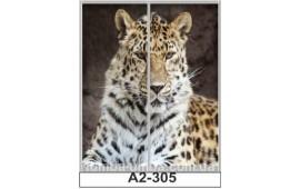 Фотопечать А2-305 для шкафа-купе на две двери. Леопард