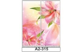 Фотопечать А2-315 для шкафа-купе на две двери. Цветы
