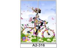Фотопечать А2-316 для шкафа-купе на две двери. Цветы