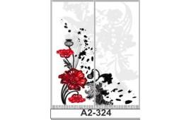 Фотопечать А2-324 для шкафа-купе на две двери. Цветы