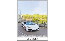 Фотопечать А2-3372 для шкафа-купе на две двери. Автомобиль