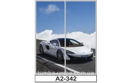 Фотопечать А2-332 для шкафа-купе на две двери. Автомобиль