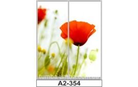 Фотопечать А2-354 для шкафа-купе на две двери. Цветы