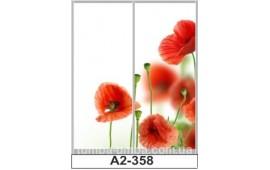 Фотопечать А2-358 для шкафа-купе на две двери. Цветы