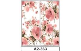 Фотопечать А2-363 для шкафа-купе на две двери. Цветы