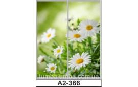 Фотопечать А2-366 для шкафа-купе на две двери. Цветы