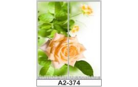 Фотопечать А2-374 для шкафа-купе на две двери. Цветы