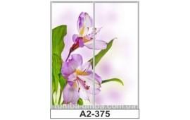 Фотопечать А2-375 для шкафа-купе на две двери. Цветы