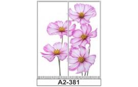 Фотопечать А2-381 для шкафа-купе на две двери. Цветы