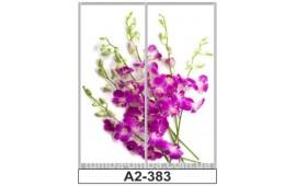 Фотопечать А2-383 для шкафа-купе на две двери. Цветы