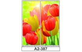 Фотопечать А2-387 для шкафа-купе на две двери. Цветы
