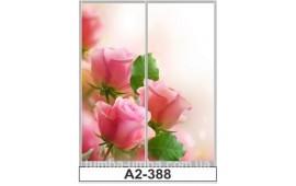 Фотопечать А2-388 для шкафа-купе на две двери. Цветы