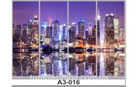 Фотопечать А3-016 для шкафа-купе на четыре двери. Ночной город