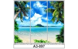 Фотопечать А3-097 для шкафа-купе на три двери. Пальмы