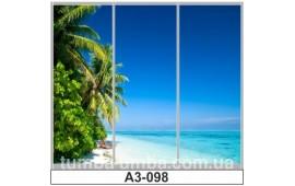 Фотопечать А3-098 для шкафа-купе на три двери. Пальмы