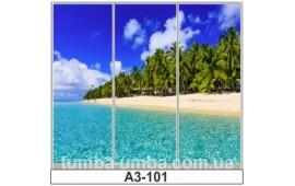 Фотопечать А3-101 для шкафа-купе на три двери. Пальмы