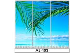 Фотопечать А3-103 для шкафа-купе на три двери. Пальмы