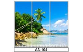 Фотопечать А3-104 для шкафа-купе на три двери. Пальмы