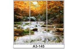 Фотопечать А3-145 для шкафа-купе на три двери. Водопад