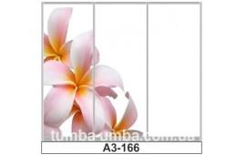 Фотопечать А3-166 для шкафа-купе на три двери. Цветы