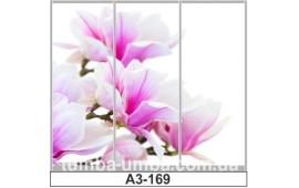 Фотопечать А3-169 для шкафа-купе на три двери. Цветы