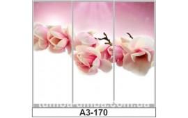 Фотопечать А3-170 для шкафа-купе на три двери. Цветы