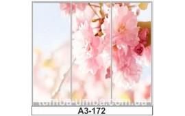 Фотопечать А3-172 для шкафа-купе на три двери. Цветы