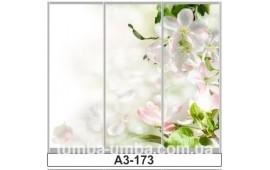 Фотопечать А3-173 для шкафа-купе на три двери. Цветы