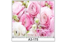 Фотопечать А3-175 для шкафа-купе на три двери. Цветы