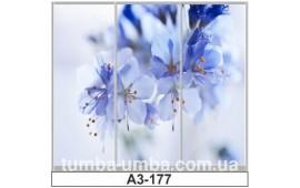 Фотопечать А3-177 для шкафа-купе на три двери. Цветы