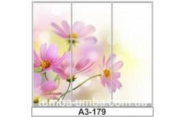 Фотопечать А3-179 для шкафа-купе на три двери. Цветы
