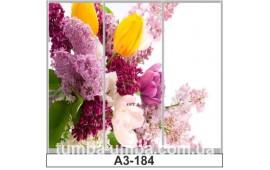 Фотопечать А3-184 для шкафа-купе на три двери. Цветы