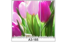 Фотопечать А3-185 для шкафа-купе на три двери. Цветы