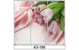 Фотопечать А3-186 для шкафа-купе на три двери. Цветы